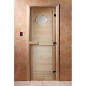 Дверь с фотопечатью, стекло 8 мм, размер коробки 190 × 70 см, правая, цвет А023