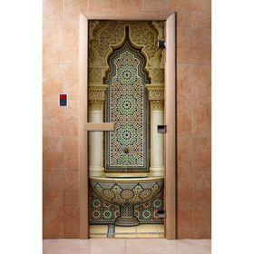 Дверь с фотопечатью, стекло 8 мм, размер коробки 190 × 70 см, правая, цвет А025