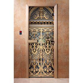 Дверь с фотопечатью, стекло 8 мм, размер коробки 190 × 70 см, правая, цвет А029