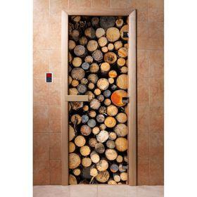 Дверь с фотопечатью, стекло 8 мм, размер коробки 190 × 70 см, правая, цвет А045