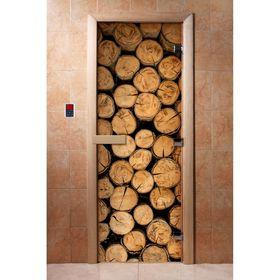 Дверь с фотопечатью, стекло 8 мм, размер коробки 190 × 70 см, правая, цвет А046