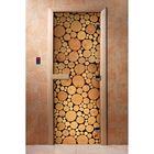 Дверь для бани и сауны А048 190х70см, с фотопечатью, 8мм , коробка