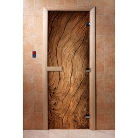 Дверь с фотопечатью, стекло 8 мм, размер коробки 190 × 70 см, правая, цвет А052