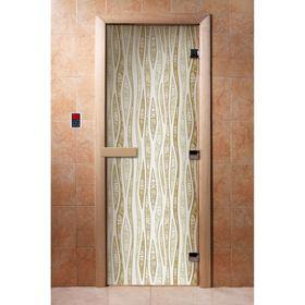 Дверь с фотопечатью, стекло 8 мм, размер коробки 190 × 70 см, правая, цвет А055