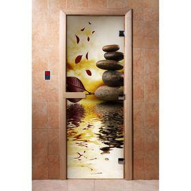 Дверь с фотопечатью, стекло 8 мм, размер коробки 190 × 70 см, правая, цвет А056