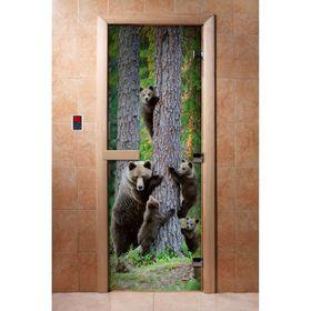 Дверь с фотопечатью, стекло 8 мм, размер коробки 190 × 70 см, правая, цвет А064