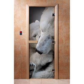 Дверь с фотопечатью, стекло 8 мм, размер коробки 190 × 70 см, правая, цвет А066