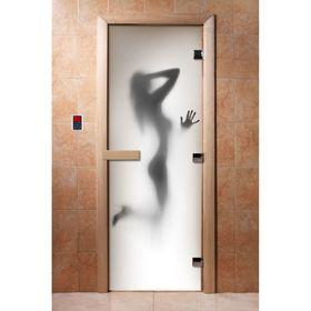 Дверь стеклянная, размер коробки 190 × 70 см, 8 мм, с фотопечатью