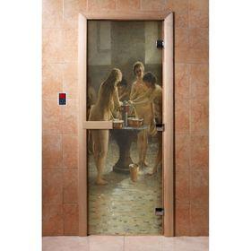 Дверь с фотопечатью, стекло 8 мм, размер коробки 190 × 70 см, правая, цвет А071