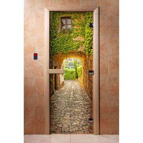 Дверь с фотопечатью, стекло 8 мм, размер коробки 190 × 70 см, правая, цвет А072