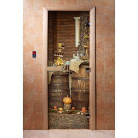 Дверь с фотопечатью, стекло 8 мм, размер коробки 190 × 70 см, правая, цвет А073