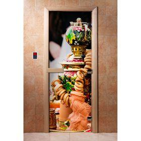 Дверь с фотопечатью, стекло 8 мм, размер коробки 190 × 70 см, правая, цвет А075