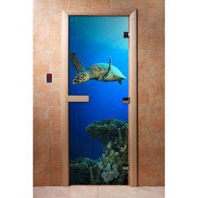 Дверь с фотопечатью, стекло 8 мм, размер коробки 190 × 70 см, правая, цвет А086