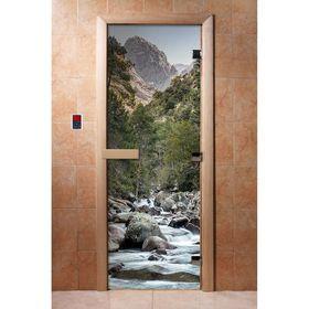 Дверь с фотопечатью, стекло 8 мм, размер коробки 190 × 70 см, правая, цвет А094