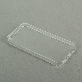 Чехол LuazON для телефона iPhone 5/5S, силиконовый, тонкий, прозрачный Ош