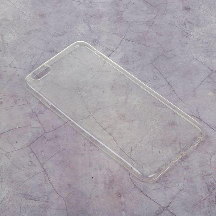 Силиконовый чехол для iPhone 6 plus, тонкий, прозрачный