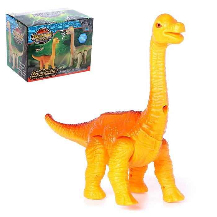 Динозавр «Брахиозавр травоядный», работает от батареек, с проектором, цвет МИКС