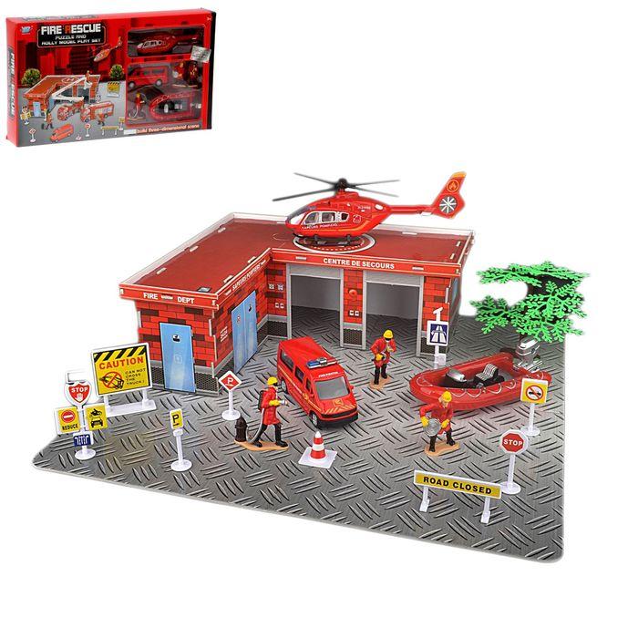 Парковка «Пожарная часть», с металлическими моделями