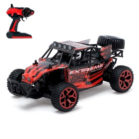 Car RC Buggy, battery powered, all-wheel drive 4WD 1:18, MIX