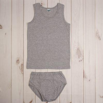 Комплект для мальчика (плавки и майка), рост 104 см, цвет серый меланж 662