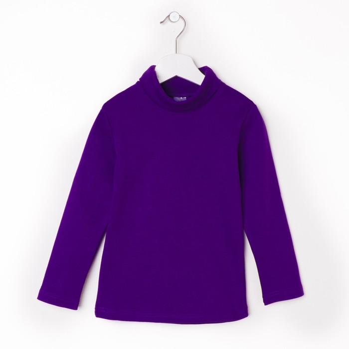Водолазка для мальчика, рост 116 см, цвет фиолетовый 418/2