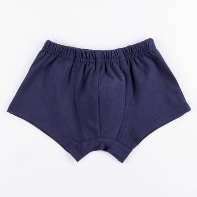 Трусы-боксеры для мальчика, размер 26, цвет синий 410/5
