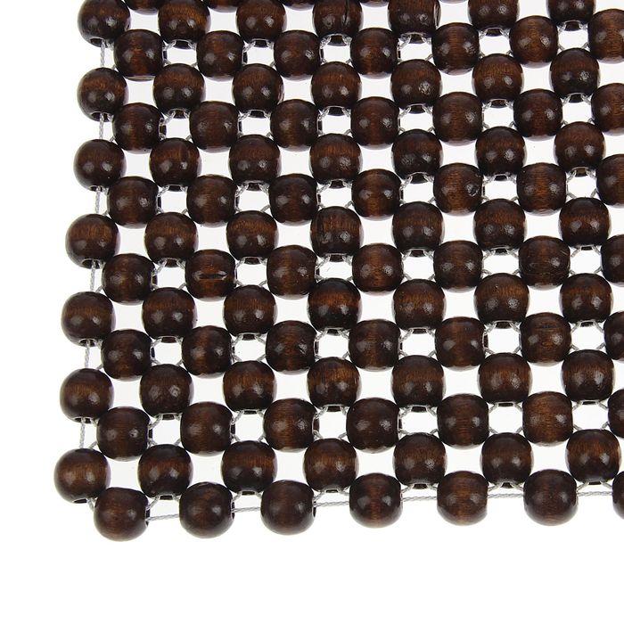 Накидка-массажер на сиденье из дерева 42 х 43 см, нейлоновая нить, цвет коричневый