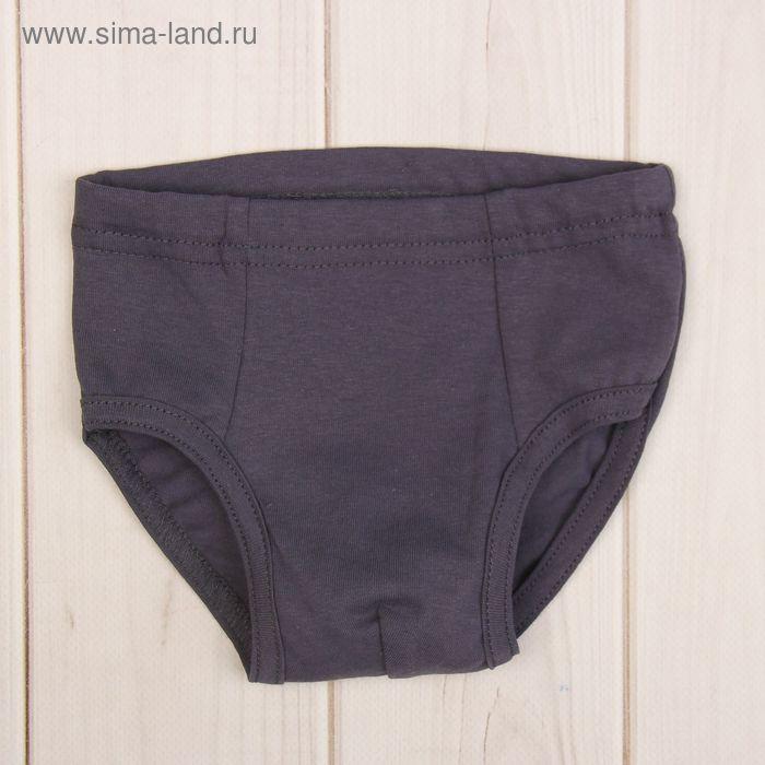 Трусы-слипы для мальчика, размер 36, цвет серый 410/7