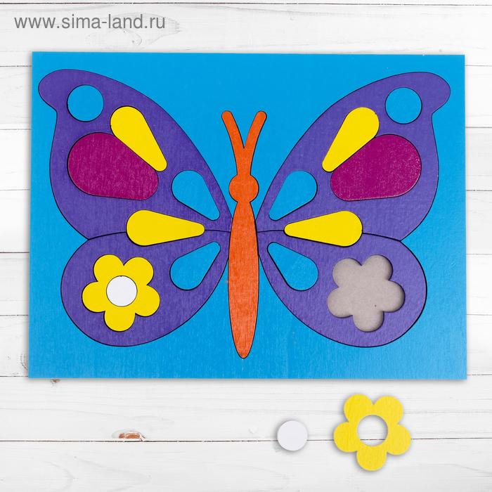 "Головоломка ""Собери картинку: бабочка"" 21 элемент"