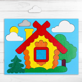 """Puzzle game """"Collect a picture: house"""" 17 elements"""