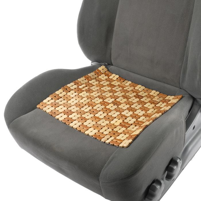 Накидка-массажер на сиденье из бамбука 37 х 36 см, светлый цвет
