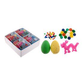 """Растущие животные """"Звери"""", набор 2 яйца с динозаврами, петух, гидрогель, МИКС"""