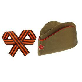 Набор военного, 2 предмета: пилотка, георгиевская лента Ош