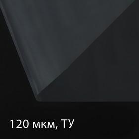 Плёнка полиэтиленовая, толщина 120 мкм, 3 × 100 м, рукав (1,5 м × 2), прозрачная, 1 сорт, Эконом 50 %