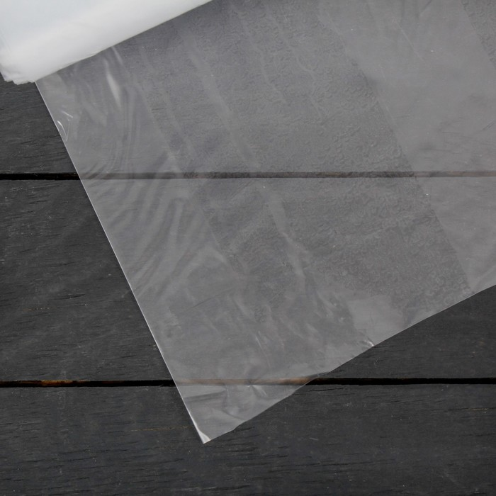 Плёнка полиэтиленовая, толщина 120 мкм, 3 × 100 м, рукав, прозрачная, Эконом