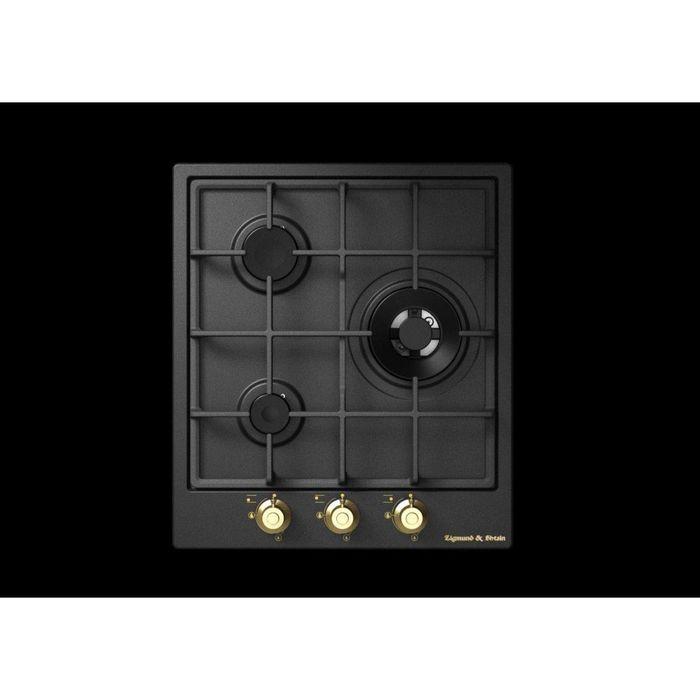 Варочная поверхность Zigmund & Shtain GN 218.451 A, газовая, 3 конфорки, чёрная