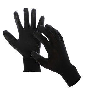 Nylon gloves with latex impregnated, size 10, black