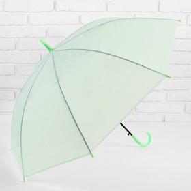 Зонт-трость, полуавтоматический, R=46см, цвет зелёный Ош