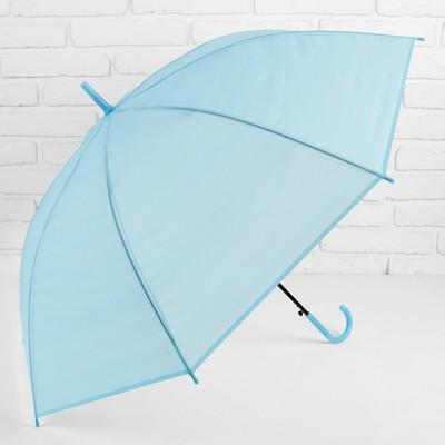 Зонт полуавтоматический «Однотонный», 8 спиц, R = 46 см, цвет голубой