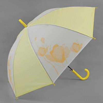 "Umbrella semi-automatic ""Flowers"", 8 spokes, R = 55 cm, color yellow"