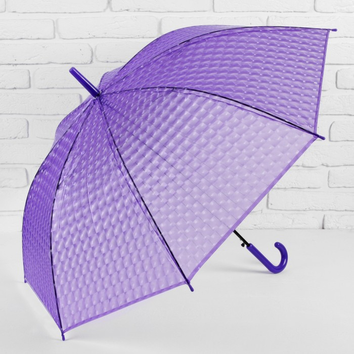 Зонт полуавтоматический «Однотонный», 3D, 8 спиц, R = 55 см, цвет фиолетовый