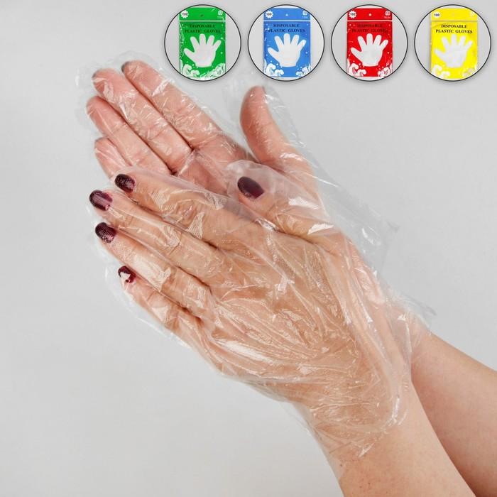 Перчатки полиэтиленовые, одноразовые