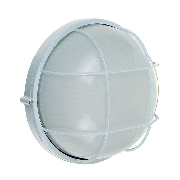 Светильник TDM НПБ1102, белый/круг с реш. 100Вт, IP54, SQ0303-0026