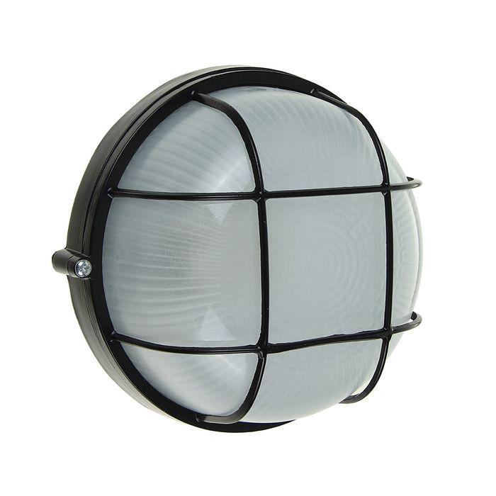 Светильник TDM НПБ1302, Е27, 60 Вт, IP54, круглый с решеткой, черный