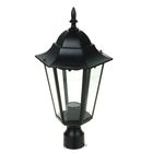 Светильник TDM 6100-03 садово-парковый шестигранник, 100Вт, на опору, черный, SQ0330-0008