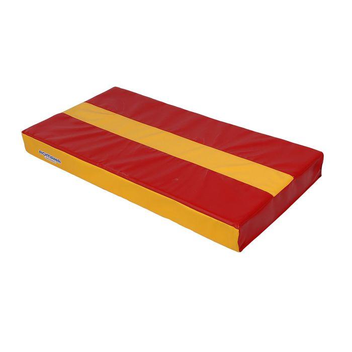 Мат 1000х500х100, цвет красный/жёлтый, ДМФ-ЭЛК