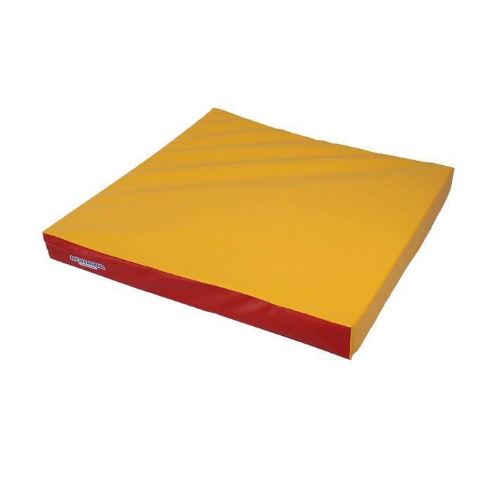 Мат 1000х1000х100, цвет красный/жёлтый, ДМФ-ЭЛК