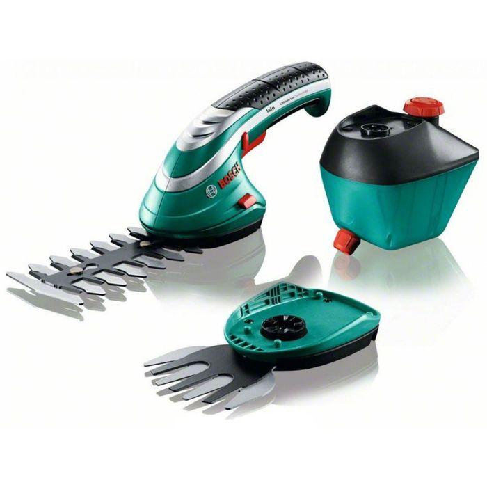 Аккумуляторные ножницы Bosch isio 3 (060083310G), для травы и насадка-распылитель