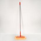 Швабра удлиненная, с телескопической ручкой 135-230 см, насадка из микрофибры