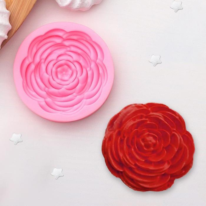 Молд силиконовый «Прекрасная роза», 5,7×5,7 см - фото 308041122